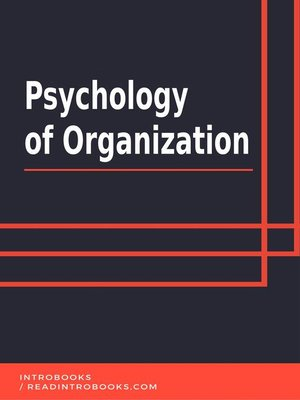 cover image of Psychology of Organization