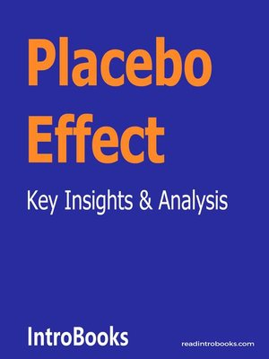 cover image of Placebo Effect