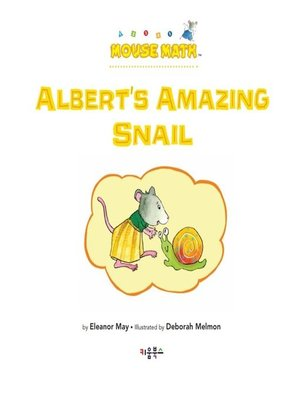 cover image of Albert's Amazing Snail