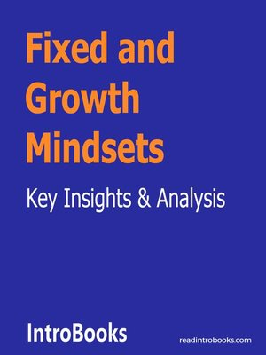 cover image of Fixed and Growth Mindsets