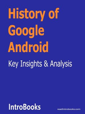 cover image of History of Google Android