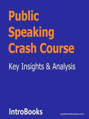 cover image of Public Speaking Crash Course