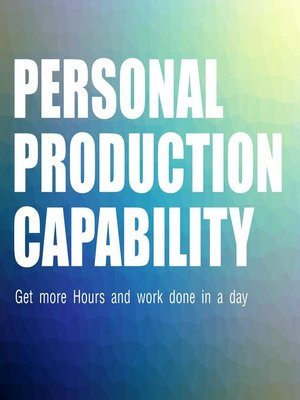 cover image of Personal Production Capability