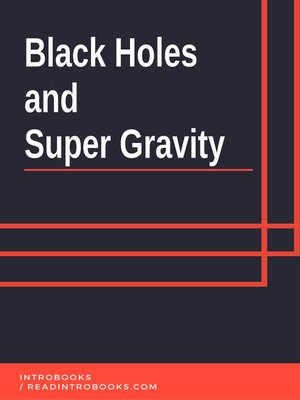 cover image of Black Holes and Super Gravity