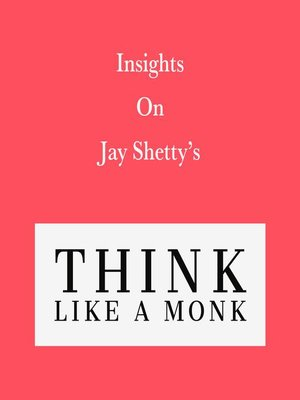 cover image of Insights on Jay Shetty's Think like a Monk