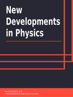 cover image of New Developments  in Physics