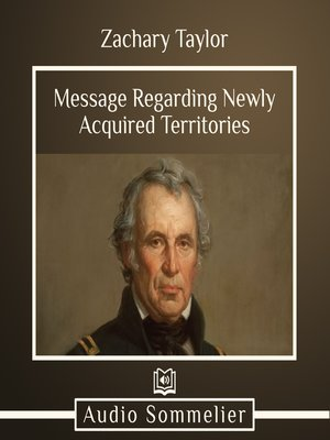 cover image of Message Regarding Newly Acquired Territories