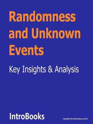 cover image of Randomness and Unknown Events
