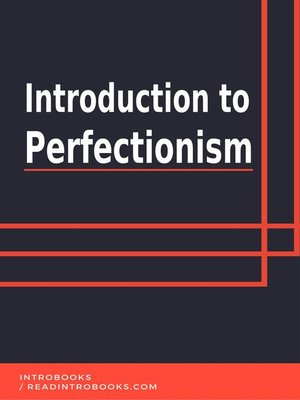 cover image of Introduction to Perfectionism