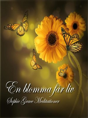 cover image of En blomma får liv. En guidad meditation