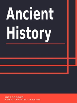 cover image of Ancient History