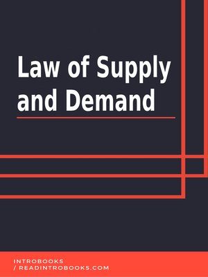 cover image of Law of Supply and Demand