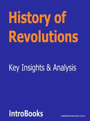 cover image of History of Revolutions