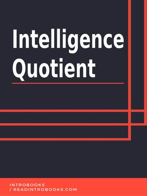 cover image of Intelligence Quotient