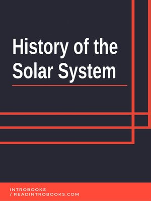 cover image of History of the Solar System