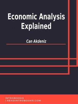 cover image of Economic Analysis Explained