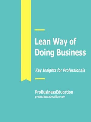 cover image of Lean Way of Doing Business