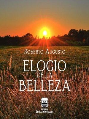 cover image of Elogio de la belleza