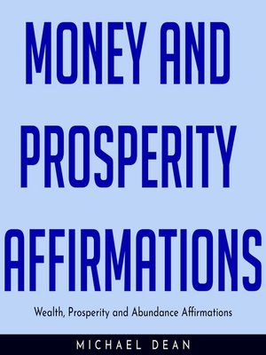 cover image of MONEY AND PROSPERITY AFFIRMATIONS