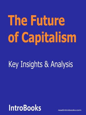 cover image of The Future of Capitalism