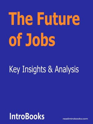 cover image of The Future of Jobs