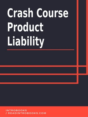 cover image of Crash Course Product Liability