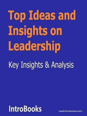 cover image of Top Ideas and Insights on Leadership