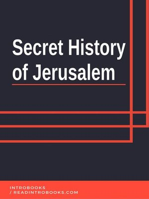 cover image of Secret History of Jerusalem