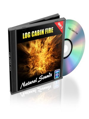 cover image of Log Cabin Fire--Relaxation Music and Sounds