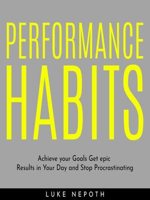 cover image of PERFORMANCE HABITS
