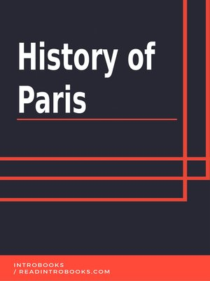 cover image of History of Paris