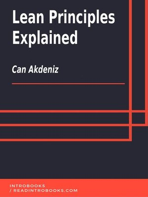 cover image of Lean Principles Explained