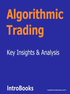 cover image of Algorithmic Trading