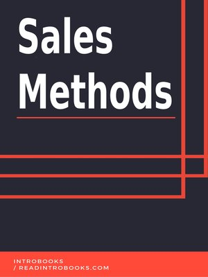 cover image of Sales Methods