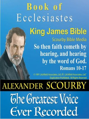 cover image of The Book of Ecclesiastes