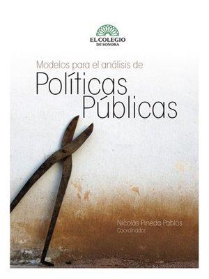 cover image of Modelos para el analisis de politicas públicas
