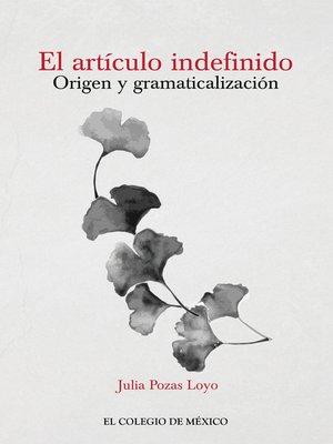 cover image of El artículo indefinido