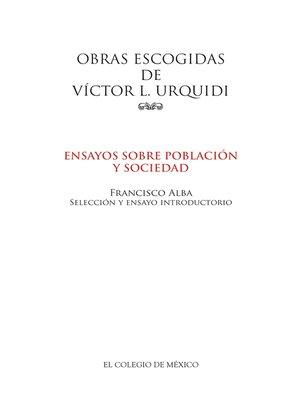 cover image of Obras escogidas de Víctor L. Urquidi.