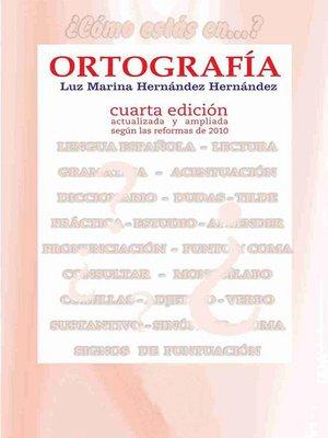 cover image of Ortografía