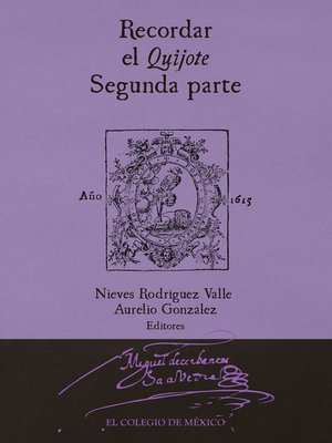 cover image of Recordar el Quijote