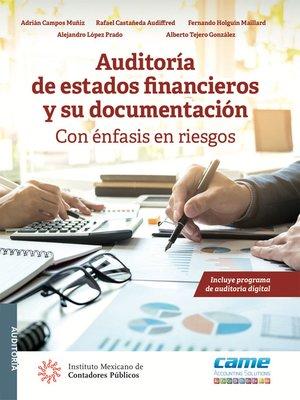 cover image of Auditoría de estados financieros y su documentación