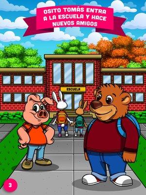 cover image of Osito Tomás entra a la escuela y hace nuevos amigos