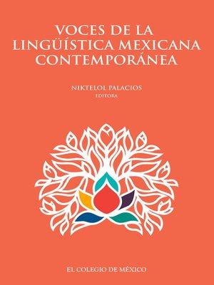 cover image of Voces de la ligüística mexicana contemporánea