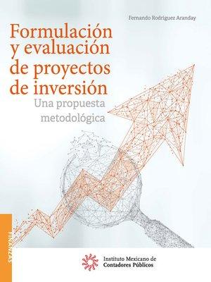 cover image of Formulación y evaluación de proyectos de inversión.