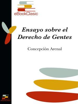 cover image of Ensayo sobre el Derecho de Gentes (Anotado)
