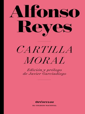 cover image of Cartilla moral
