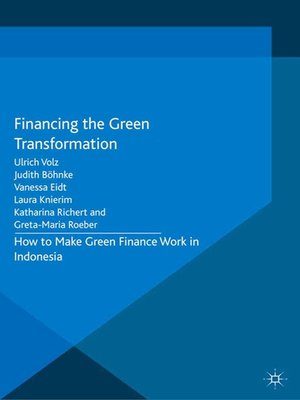 cover image of Financing the Green Transformation