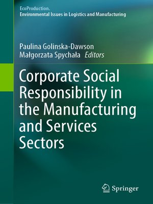 cover image of Corporate Social Responsibility in the Manufacturing and Services Sectors