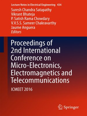 cover image of Proceedings of 2nd International Conference on Micro-Electronics, Electromagnetics and Telecommunications