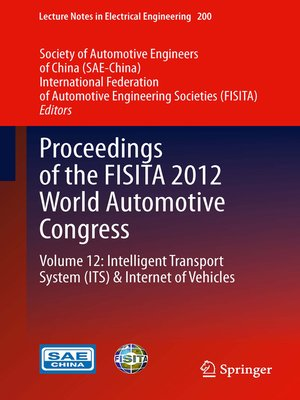 cover image of Proceedings of the FISITA 2012 World Automotive Congress